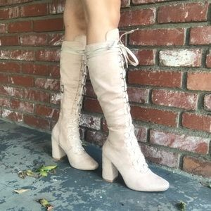 Nude Knee High Boots